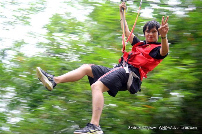 Zipping across the Langkawi Jungle