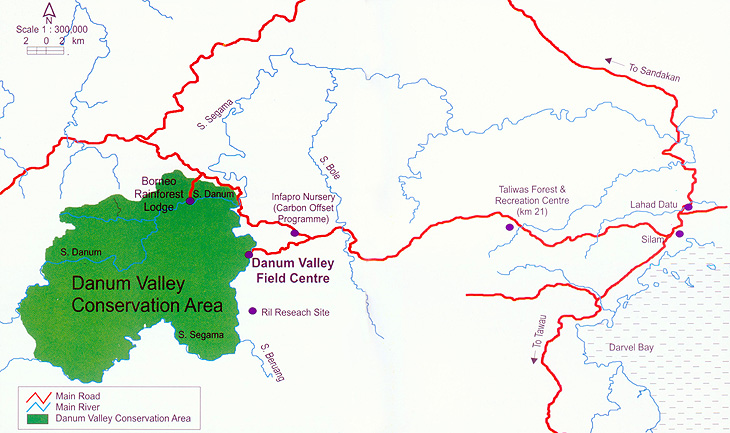 Danum Valley Conservation Area Map