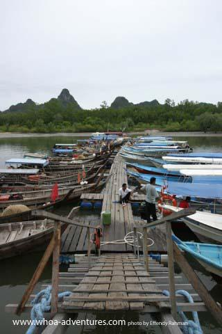 Fishing boats at jetty