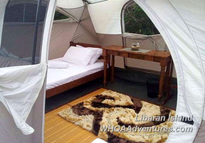 Comfortable Twin beds in Tents