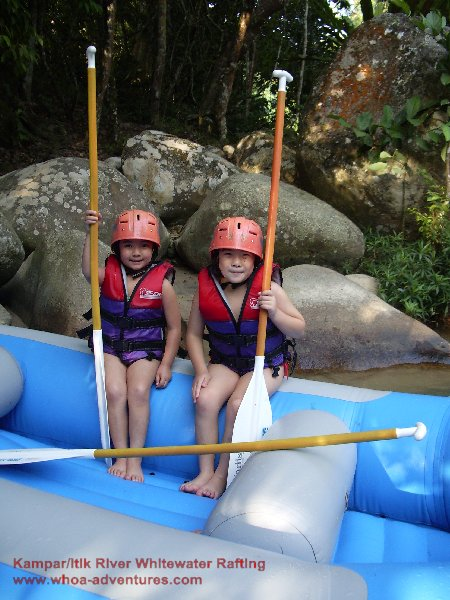 Fun for kids at Kampar/Itik River, Gopeng!!